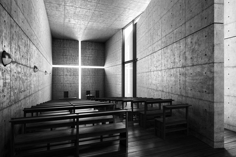 l'église de la lumière d'Irabaki Japon